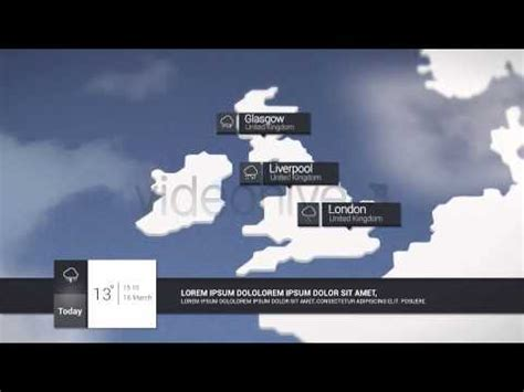 Weather Forecast Broadcast After Effect Template Youtube After Effects Weather Template