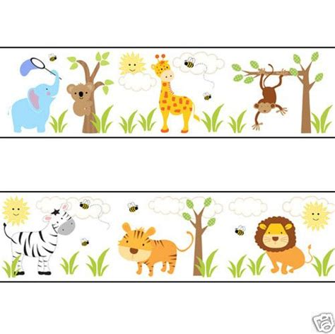 baby jungle animal border clip animal clipart border pencil and in color animal clipart