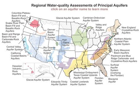 map of aquifers aquifers in the us