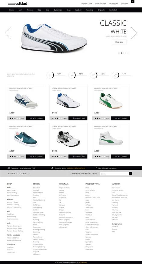 Free Template Ecommerce With Responsive Design Responsive Ecommerce Html Template Free
