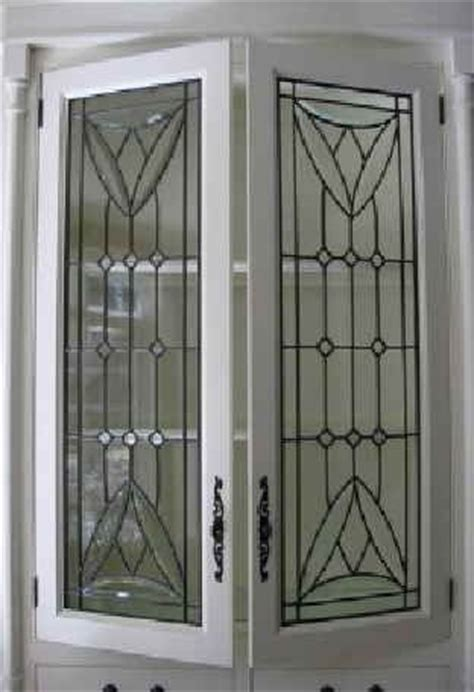 Leaded Glass Cabinet Door Inserts Custom Leaded Glass Cabinet Inserts By Glassworks Studio Custommade