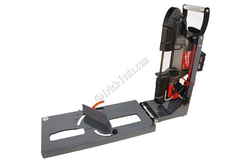 milwaukee portable band saw table turn your milwaukee portaband into a chop saw or