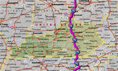 kentucky map interstate kentucky road map swimnova