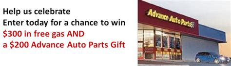 Advance Auto Parts Gift Card Discount - advance auto parts million facebook fans sweepstakes win a 300 gas card more
