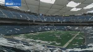 Silverdome Pontiac Michigan Eerie Photos Of Michigan S Abandoned Silverdome Reveal