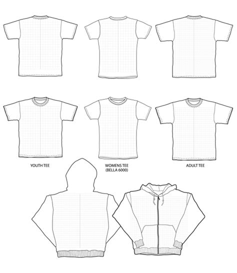 clothing templates free blank t shirt templates