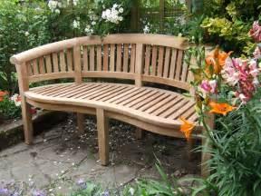 curved patio bench curved teak garden bench bali
