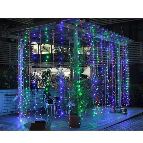 led waterfall curtain lights 300 led curtain light icicle waterfall string fairy light