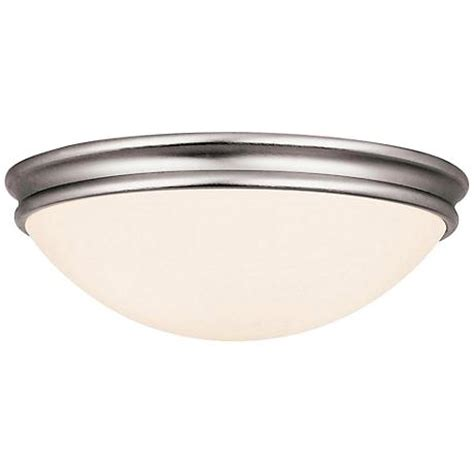access atom 12 quot wide brushed steel ceiling light 3c890