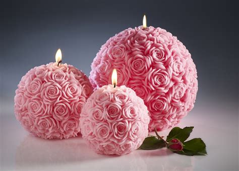 candele rosse candles pink