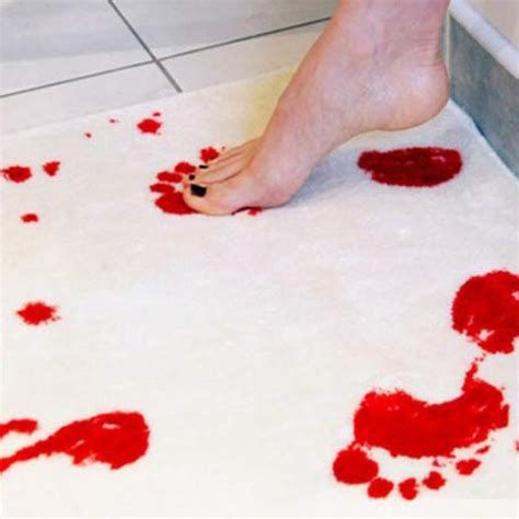 novelty blood bath mat bathroom water absorption non slip