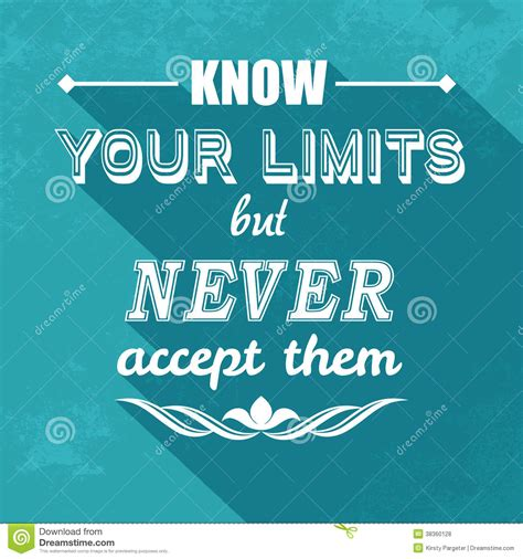 free stock quotes kow your limits quotation stock vector illustration of