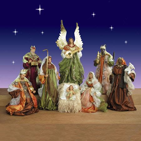 large outdoor nativity clearance church nativty set in resin and fabric 42 quot scale 9