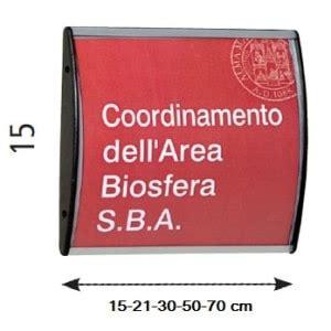 targhette per ufficio targhette da ufficio h 15 cm arc in alluminio convesso