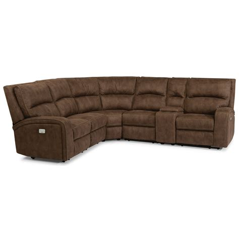 power reclining sofa with usb flexsteel latitudes rhapsody contemporary power reclining