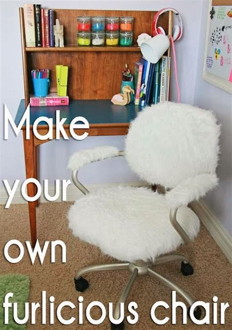furry desk chair cover 30 budget friendly diy pottery barn hacks noted list