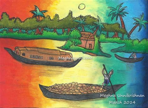 drawing of boat scenery scenery drawings for children www pixshark images