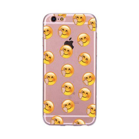 Silicon Ultrathin Iphone 6 4 7 ultrathin emoji pattern soft tpu back for