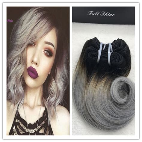 can ypu safely bodywave grey hair full shine brazilian short weave hair extensions remy hair