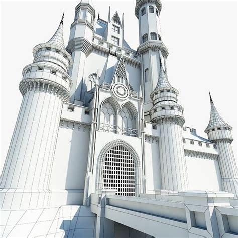 castle building architecture 3d model castle 02 by