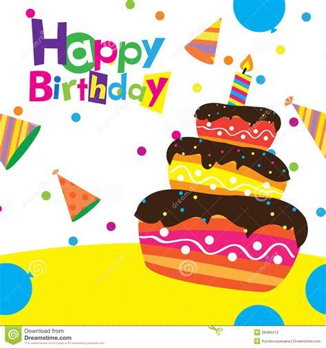 imagenes de happy birthday vector vector happy birthday card stock vector illustration of