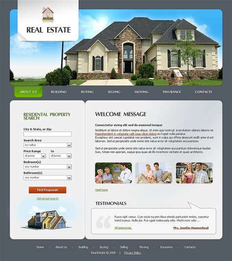 website templates for real estate agents real estate agency website template 20594