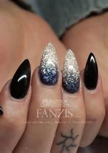 acrylic black manicure nails image 3872088 by