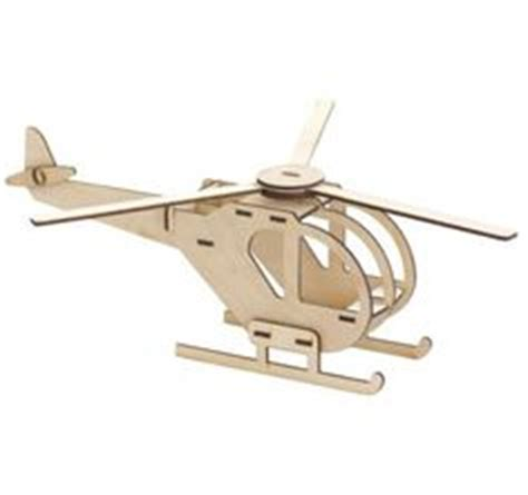 Puzzle Kayu 3d Plane Model B 3d puzzle mdf with laser cut small wood crafts