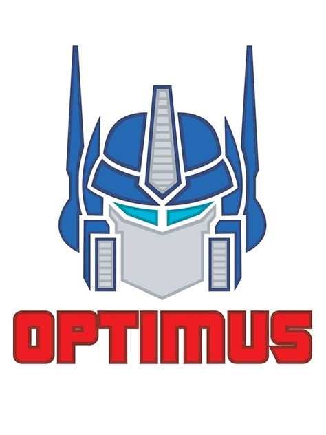Transformer Wall Stickers quot optimus prime logo quot stickers by toon alchemist redbubble