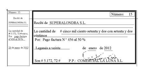 ejemplos de un recibo de dinero trabajos de formaci 243 n espec 237 fica ejemplo de recibo