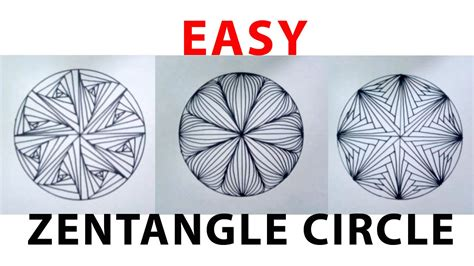 how to draw circle doodle menggambar easy zentangle circle doodle zentengle