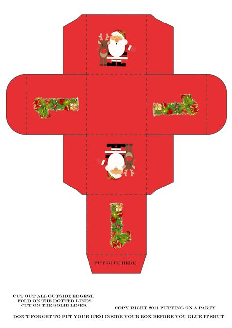 Templates For Christmas Boxes | christmas box template don t just like love