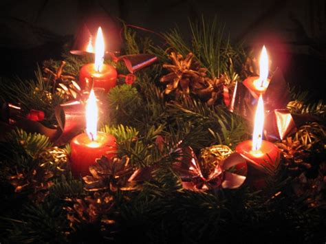 images of christmas wreaths with candles wreath with candles desktop wallpaper