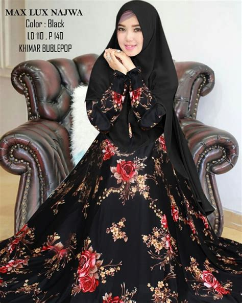 Syar I Najwa gamis syari maxmara najwa xl busana muslimah motif jumbo