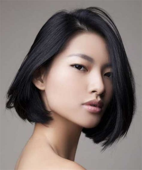 medium bob hairstyles japanese asian medium bob layered short hairstyle 2013