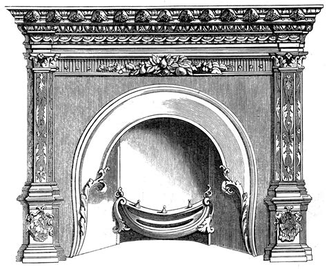 Fireplace Graphic by Vintage Clip Fireplace Mantels The
