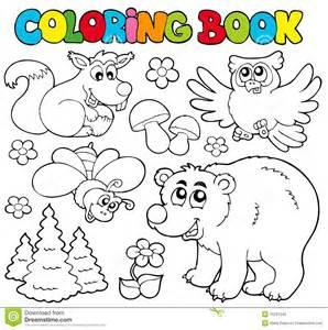 libro de colorante con los animales 1 del bosque foto de