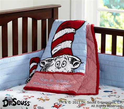 Cat In The Hat Crib Bedding Set Dr Seuss Cat In The Hat Nursery Bedding Set Pottery Barn