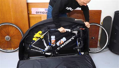 bike travel bag airplane packing a bicycle for air travel thule roundtrip pro