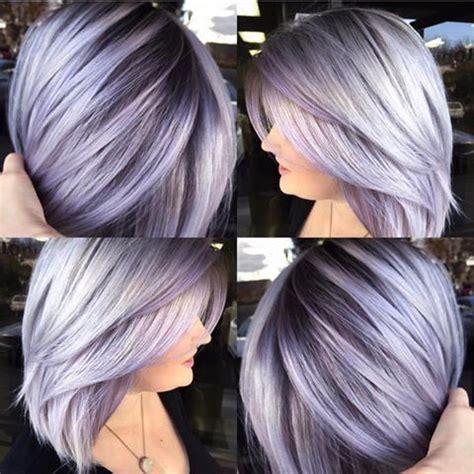 shag haircut brown hair with lavender grey streaks best fresh hair colour ideas for dark hair popular haircuts