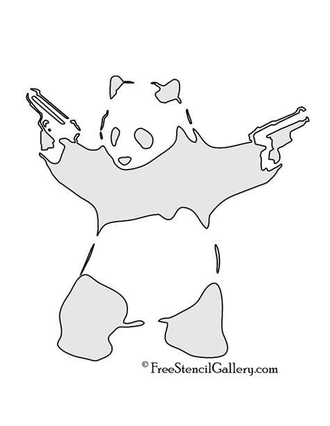 panda tattoo template panda gun stencil