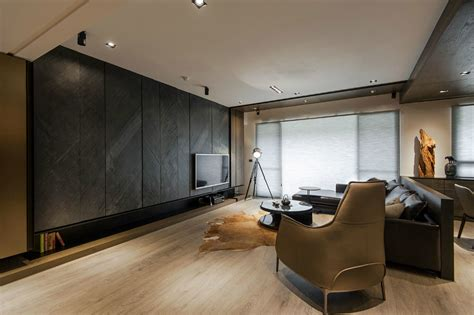 stone  wood   dark masculine interior