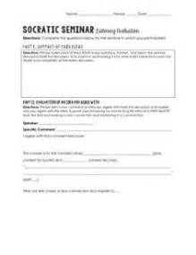 Socratic Seminar Lesson Plan Template by 1000 Images About Socratic Seminar On