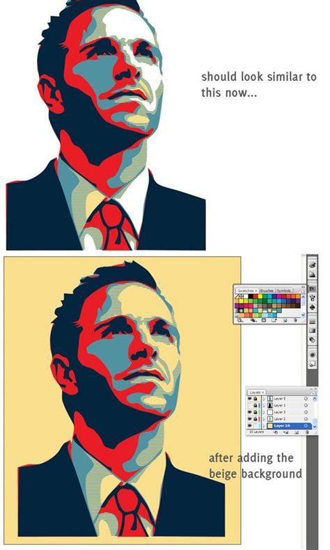 illustrator tutorial obama poster vector portrait on illustrator design tutorials