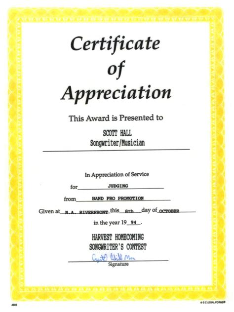 appreciation letter on winning an award sle certificate of appreciation for panelist choice