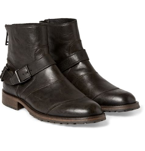 black master brodo boots lyst belstaff trialmaster leather boots in black for