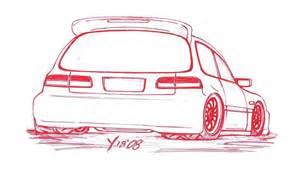 honda civic hatchback sketch