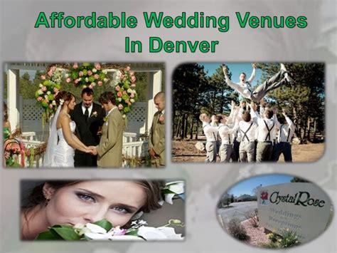 affordable wedding venues in denver