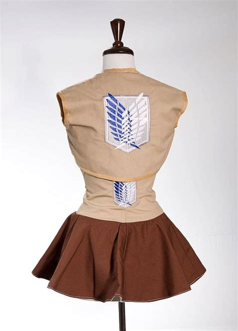 Anime Jaket Attack On Titan Varsity attack on titan survey corp cropped vest custom made s m l