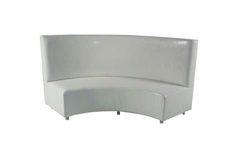 white bench with back infinite curve a banquette white lux lounge efr 888